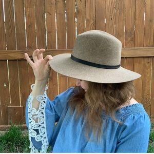 Janessa Leone Light Brown Hat